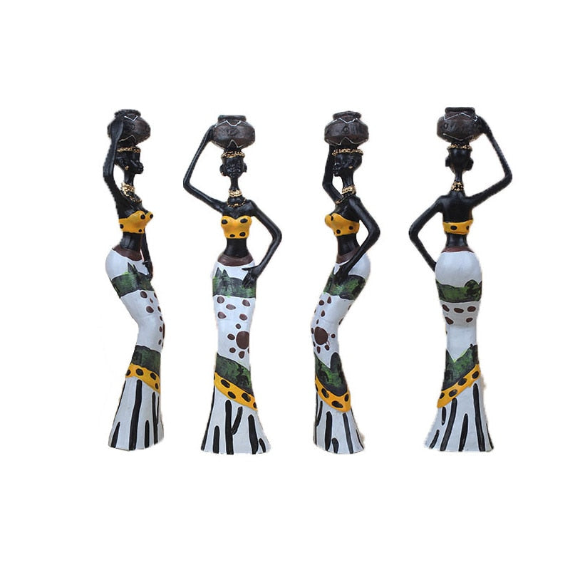 3pcs/Set African Woman Statue