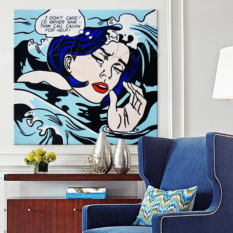 Drowning Girl Pop Art Wall Decor