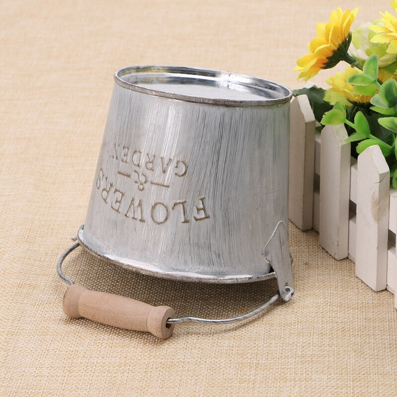 Vintage Galvanised Metal Pot