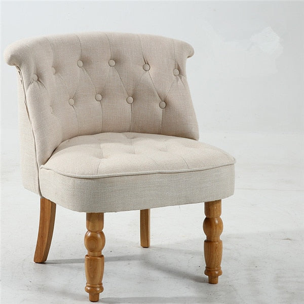 Casual Accent Chair with Button
