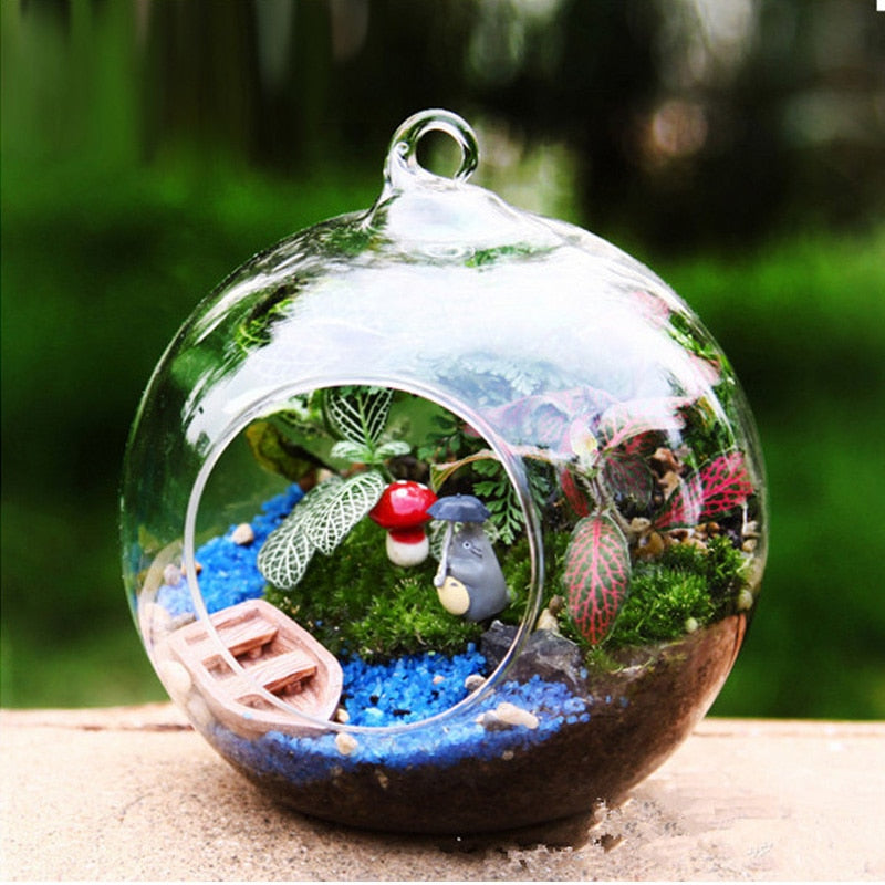 Hanging Glass Ball Planter