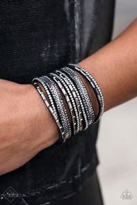 A Wait-and-SEQUIN Attitude * Black * Paparazzi Urban Bracelet