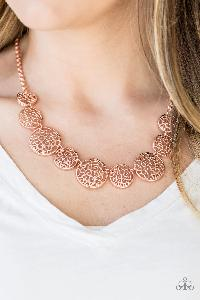 All the Time in the WHIRL * Copper * Paparazzi Necklace