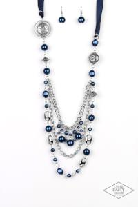 All the Trimmings * Blue * Blockbuster Paparazzi Necklace