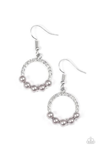 All the Time Glow * Silver * Paparazzi Earrings