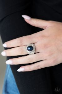 Glittering Go-Getter * Blue * Paparazzi Ring