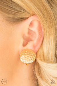 Hold The SHINE * Gold * Paparazzi Clip-On Earrings