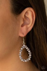 Pearl Spectacular * Silver * Paparazzi Earrings