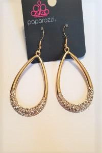 "Take A Dip * Gold * Paparazzi ""Exclusive"" Earrings"
