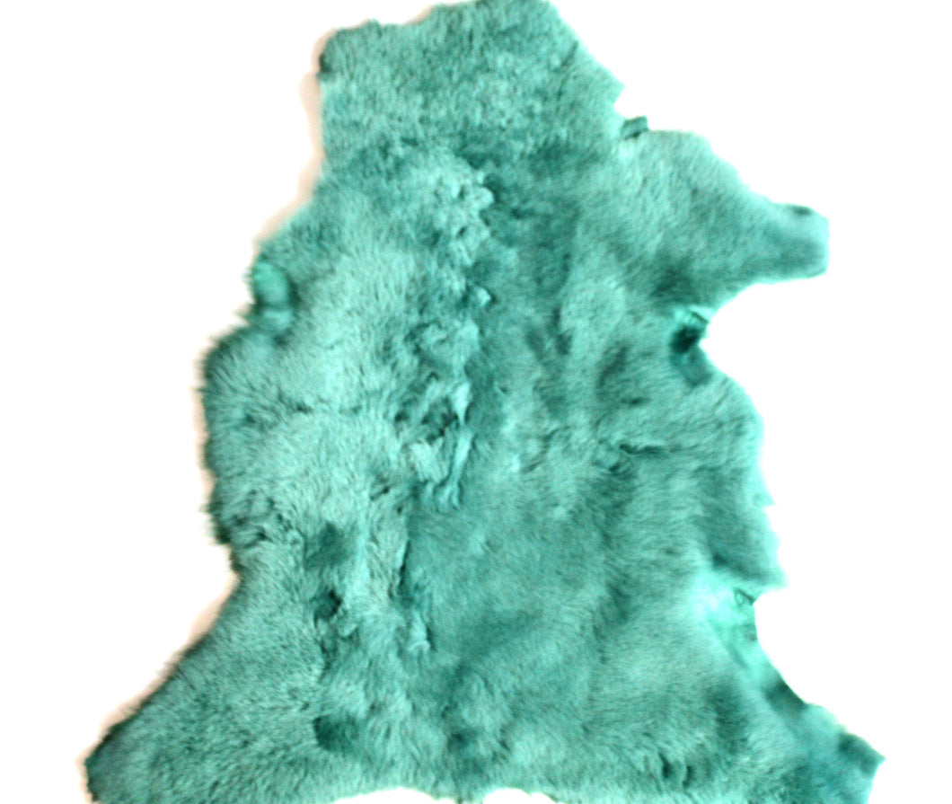 Aqua Green - Sheep Shearling Hide