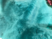 Load image into Gallery viewer, Aqua Green - Sheep Shearling Hide