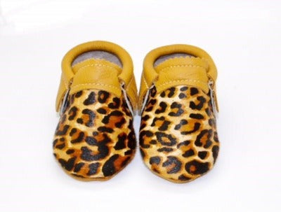 Leopard Moccs - Hair on Hide