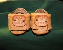 Load image into Gallery viewer, Personalize your moccasins. What would you like your message to say?