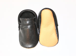 Black Perforated Leather - Moccs Limited Edition