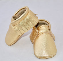 Load image into Gallery viewer, Gold Metallic- Moccs