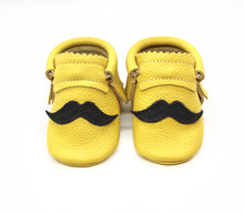 Load image into Gallery viewer, Mustache on Yellow  - Moccs