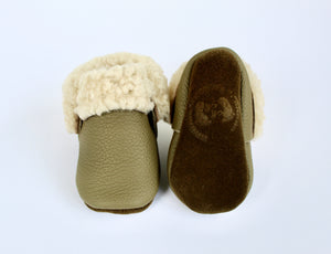 Sheep Shearlings Olive moccs - Limited Edition