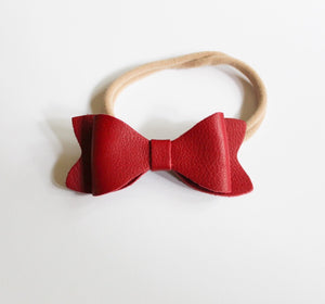 Headbands Ruby Red - Leather