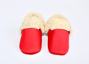 Sheep Shearlings Red moccs - Limited Edition