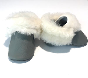 Sheep Shearlings Gray moccs - Limited Edition
