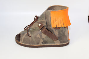 Camouflage - Peek-a-Boo Sandals - This item is pre-order will be available to ship soon