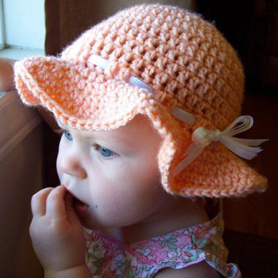 Peach Happy Sun Hat Crochet Pattern