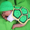 Newborn Turtle Photo Prop Crochet Pattern