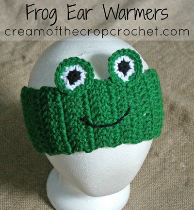 Frog Ear Warmers Crochet Pattern