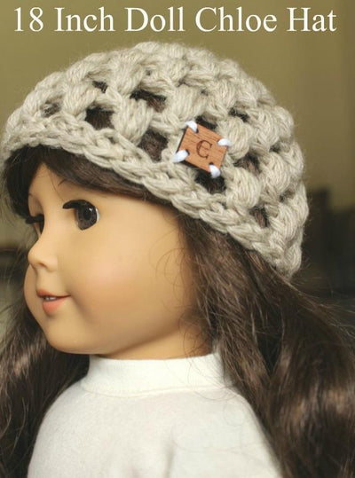 18 Inch Doll Chloe Hat Crochet Pattern
