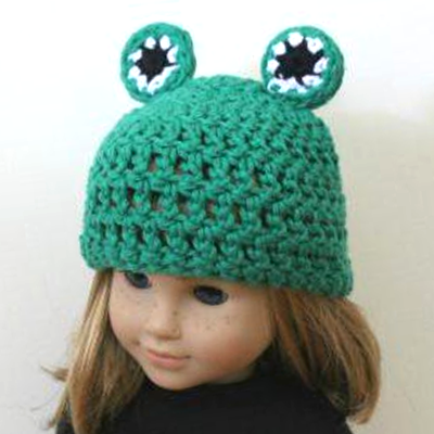 18 Inch Doll Frog Hat Crochet Pattern
