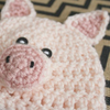18 Inch Doll Pig Hat Crochet Pattern