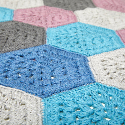 Hexagon Blanket Crochet Kit