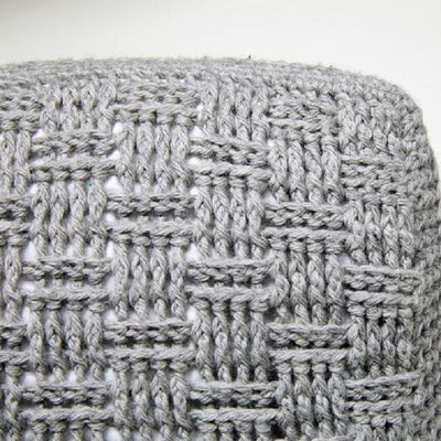 Basketweave Pillow Crochet Kit