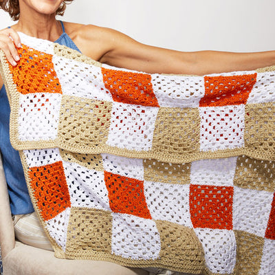 Granny Square Picnic Blanket Crochet Kit