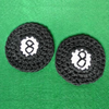 8-ball Applique or Coaster Crochet Pattern