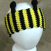 Bee Ear Warmers Crochet Pattern