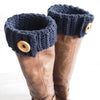 Even Moss Stitch Boot Cuff Crochet Kit