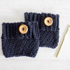 Even Moss Stitch Boot Cuff Crochet Pattern