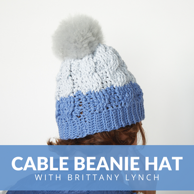 Cable Beanie Hat Crochet Class