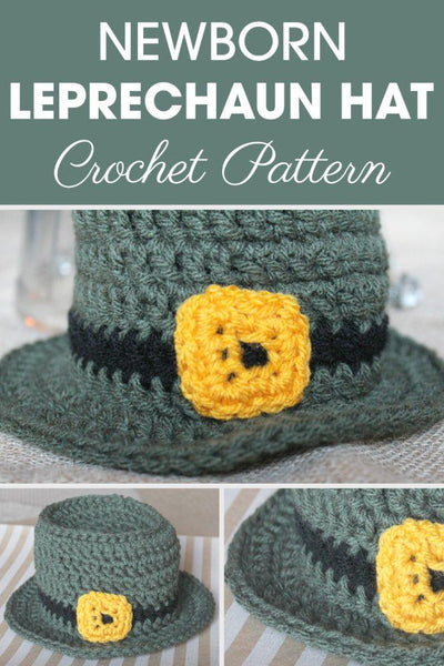 Newborn Leprechaun Hat Crochet Pattern