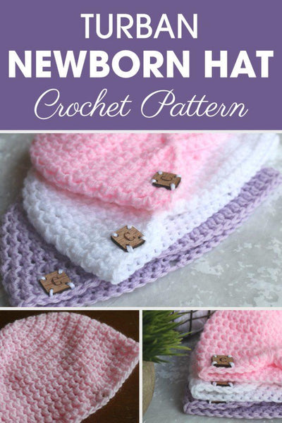 Turban Newborn Hat Crochet Pattern