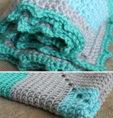 Oceans and Seas Preemie Blanket Crochet Pattern