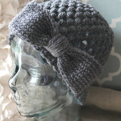 Child Makenzie Bun Hat Crochet Pattern