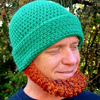 Crochet Hat Pattern Irish Beard Beanie REVERSIBLE