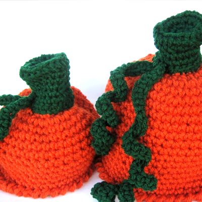 Halloween Costume Pumpkin Hat Crochet Pattern