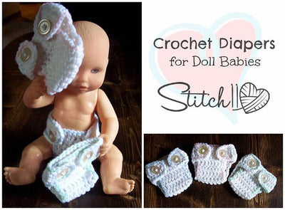 Diaper for Doll Babies Crochet Pattern