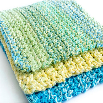 Easy Thick Crochet Wash & Dishcloths Kit