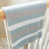Easy Striped Baby Blanket Knit Pattern