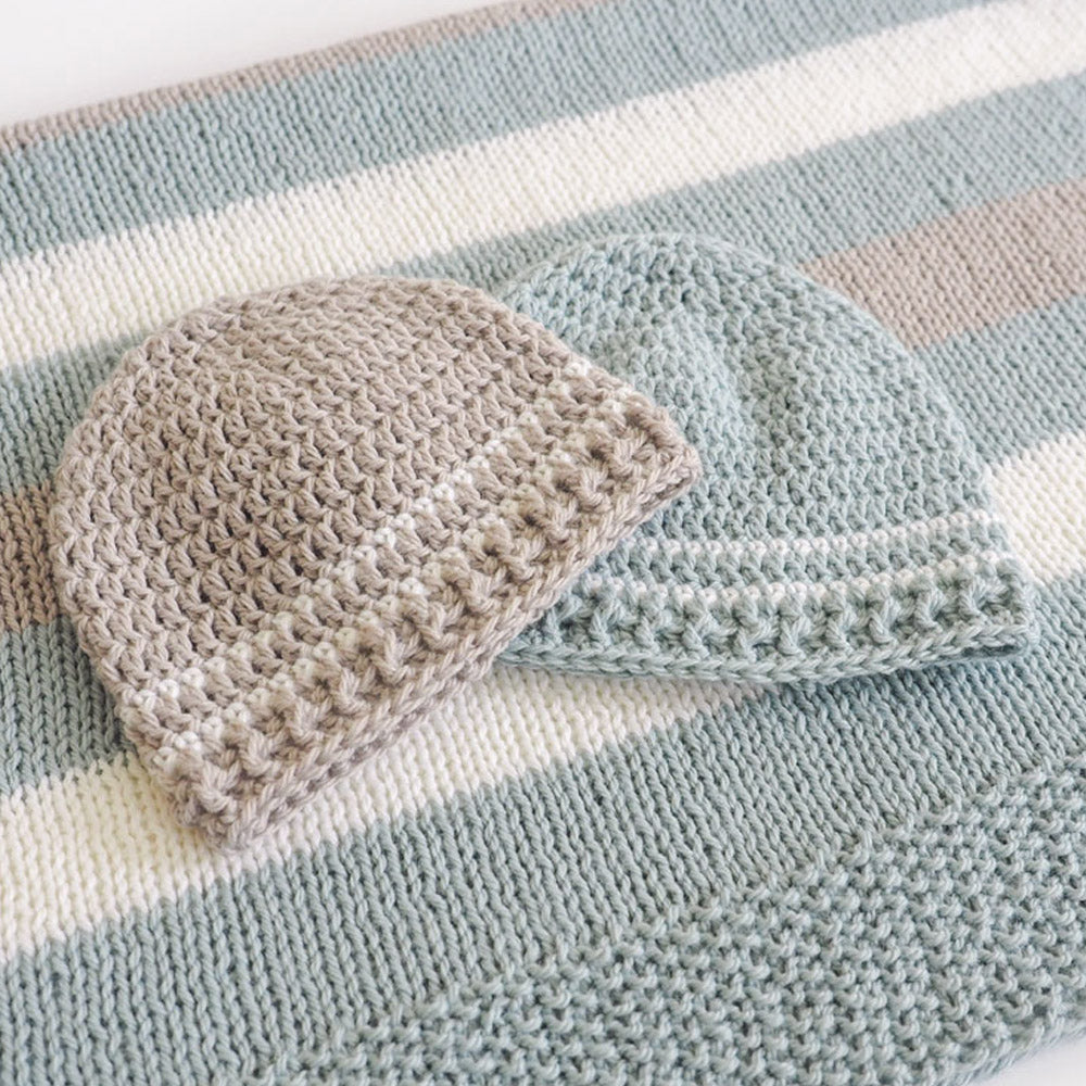 Easy Striped Baby Hat Crochet Pattern Dollar Yarn Club Store