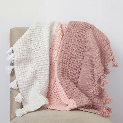 Ombre Textured Blanket Crochet Kit